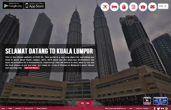 Klar, übersichtlich strukturiert und mehrsprachig: Der neue Webauftritt von Kuala Lumpur.