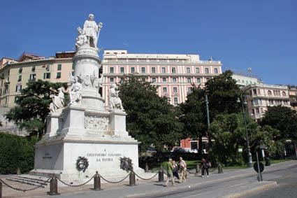 Kaum einer verbindet Christopher Kolumbus mit Genua, seiner Heimatstadt, wo dem Seefahrer ein Denkmal gesetzt wurde. (Foto: Karsten-Thilo Raab)