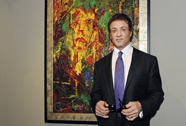 Filmlegende Sylvester Stallone zeigt seine Malereien in Sankt Petersburg. (Foto: Russisches Museum Sankt Petersburg)