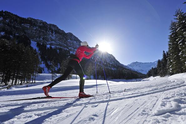 Auch Langläufer finden rund um Steg erstklassige Loipen.