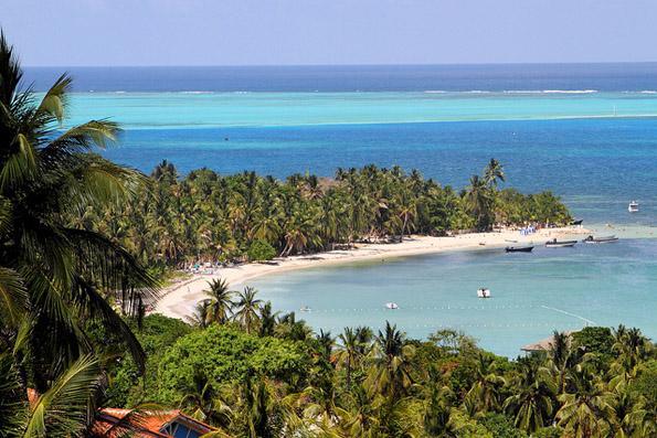 Traumstrand auf San Andrés Islas: der Playa Coco Plum.