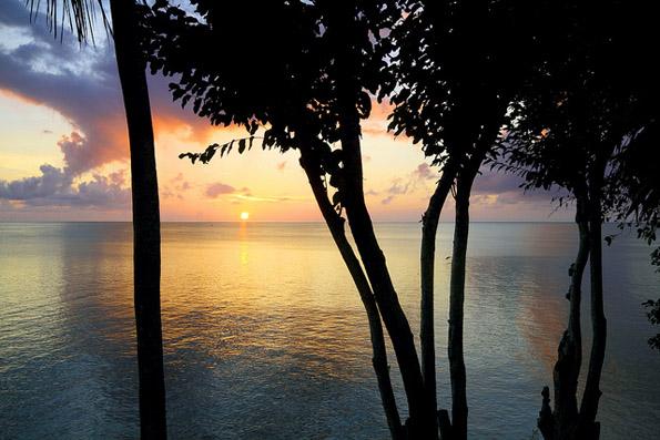 Besonders stimmungsvoll: der Sonnenuntergang auf den kolumbianischen San Andrés Islas.