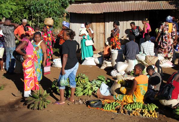 Auf den Märkten pulsiert das Leben. Obst, Gemüse und vieles mehr wird hier gehandelt. (Foto: Karsten-Thilo Raab)