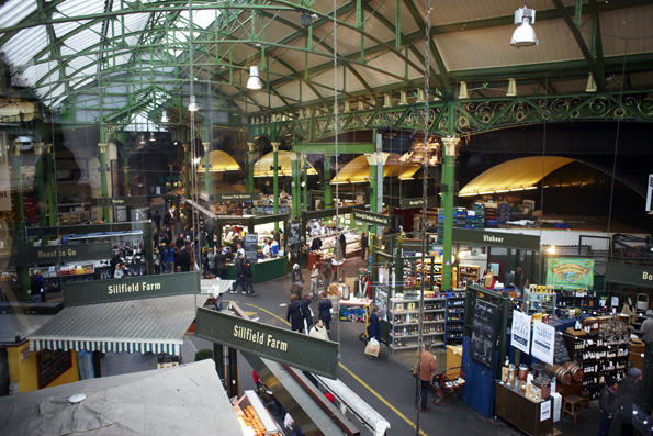 Londons ältetser Lebensmittelmarkt: Der Borough Market. (Foto Joanna Henderson)