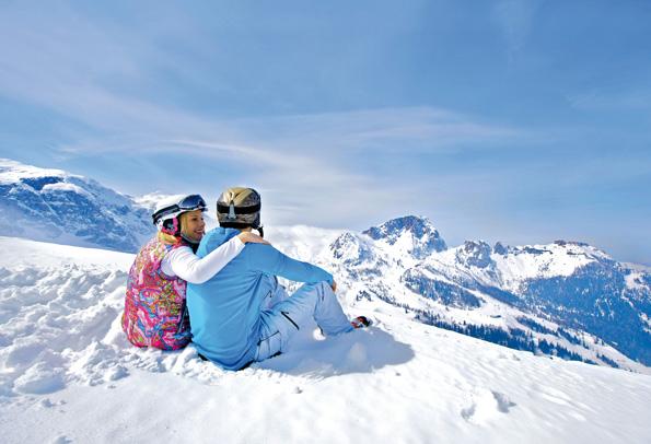 Traumhafte Wintersportbedingungen finden sich an 330 Tagen im Jahr am Mölltaler Gletscher in Kärnten. (Foto Edward Groger)