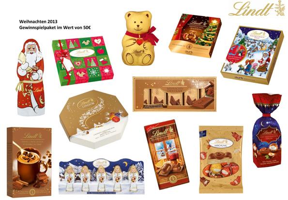 Prall gefüllt mit den Besten Leckereien von Lindt sind die Weihnachtspakete, die das Mortimer Reisemagazin verlost.
