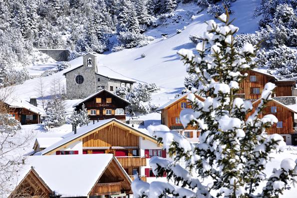 Ein Wintertraum: Liechtensteins alpines Skigebiet in Malbun.