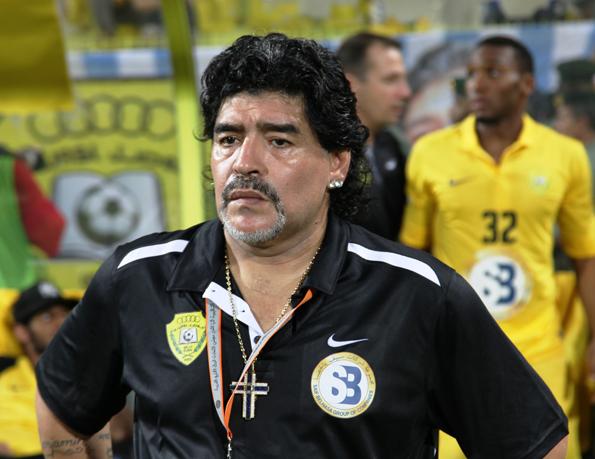 Genoss als Spieler und Trainer derart Kultstatus, dass nach ihm sogra eine Relegion benannt wurde: Der Argentinier Diego Armando Maradona. (Foto: Neogeolegend)