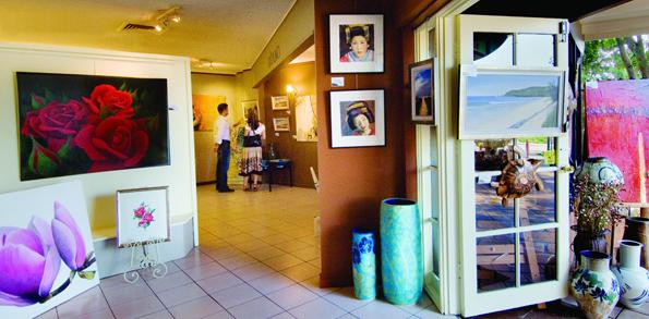 Zahlreiche Galerien - wie hier in Montville - laden entlang des Arts and Cultural Trails zu Besichtigungen ein.