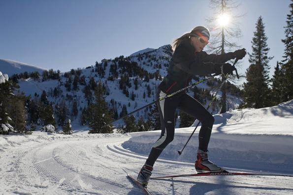 Langläufern stehen an der Turracher Höhe 15 Kilometer doppelt gespurte Loipen zur Verfügung. (Fotos: Turracher Höhe)