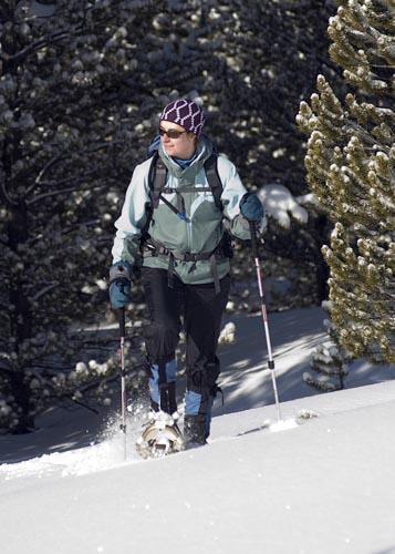 Schneeschuhwandern gehört zu den winterlichen Vergnügungen in Montana. (Foto Donnie Sexton)