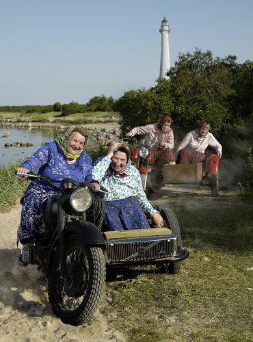 Motorisierter Spaß im Dörfchen Kihnu in Estland.