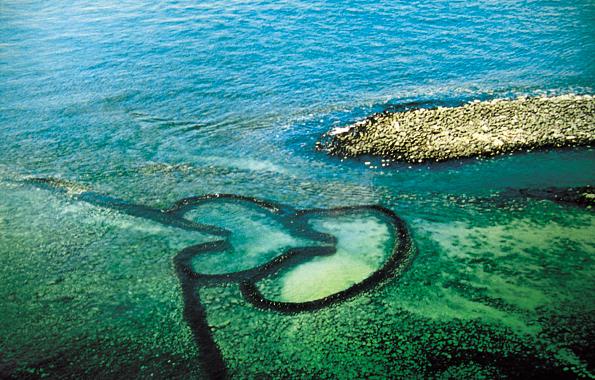 Taiwans Küste lässt sich im wahrsten Sinne des Wortes mit viel Herz entdecken.