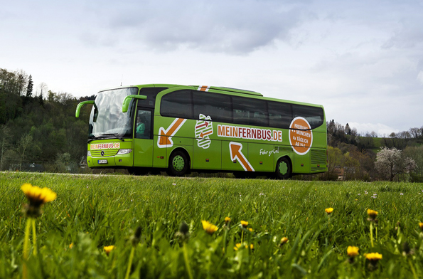 Fahrten mit dem Fernreisebus - wie hier von MeinFernbus - haben sich binnen kurzer Zeit als Reisealternative etabliert. (Foto: Verena Brand)