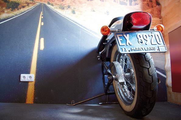 Ein Traum für Biker und alle, die von der Freiheit auf zwei Rädern träumen: Der Harley-Davidson Room.