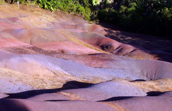 Naturwunder Terres des Couleurs - siebenfarbige Erde im Südwesten bei Chamarel