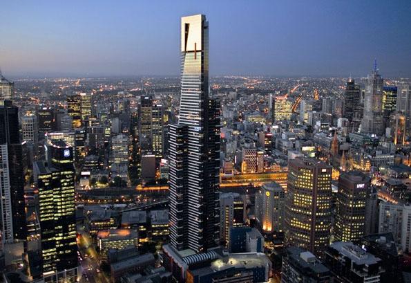 Der Eureka Sky Tower ist das höchste Wohngebäude der Welt.