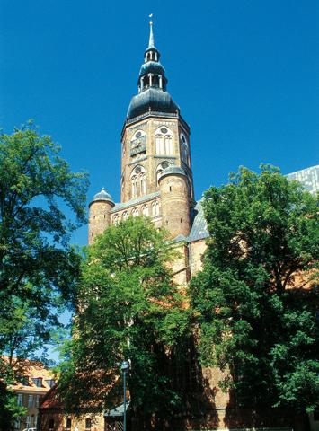 """Die """"Kirche des Jahres"""": Der vDom St. Nikolai in Greifswald. (Foto: Werk3)"""