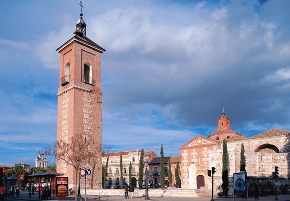Eines der Wahrzeichen von Alcalá de Henares: die Kirche Santa Mara.
