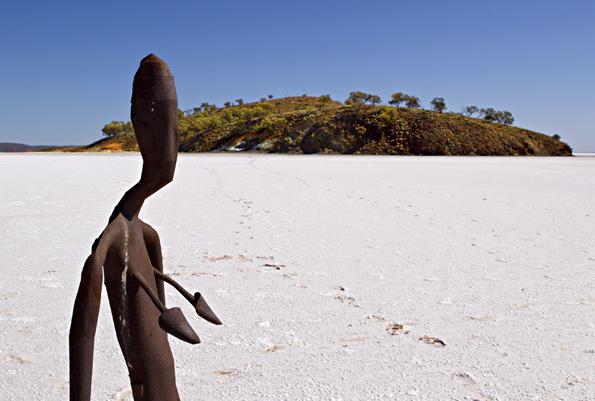 Ungewöhnlicher Blickfang auf dem Salzsee Lake Ballard: Eine Skulptur von Antony Gormley