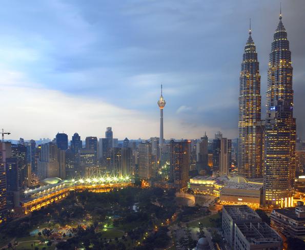 Auch in der Haupstadt Kuala Lumpur wird 15 Tage lang gefeiert. (Foto: Hasselkus)