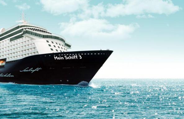 """Das neue Kreuzfahrtschiff """"Mein Schiff 3"""" wird am 12. Juni in Hamburg getauft. (Foto: TUI Cruises)"""