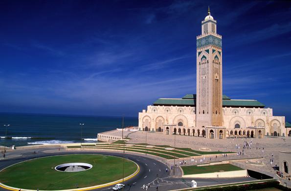 Gilt als achtes Weltwunder: Die  Grande Mosquée Hassan II.