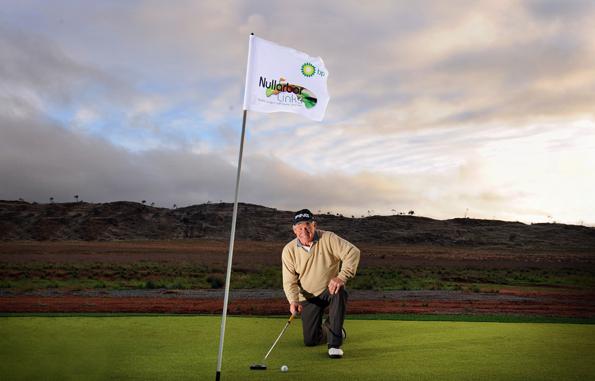 Rekordverdächtig: Der Nullarbor Links Golf Course erstreckt sich über weit mehr als 1.300 Kilometer.