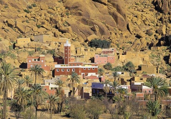 Eine weitere Bilderbuchkulisse in Marokko: Tarfaout.