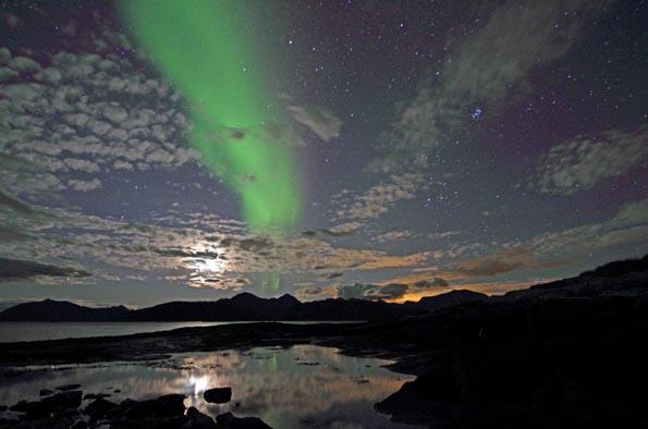 Noch bis weit in den März hinein lassen sich in Inishowen Nordlichter beobachten.