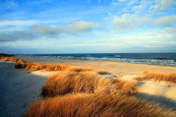 Dünen ohne Ende: Am kilometerlangen Sandstrand von Grömitz gibt es auch noch stille Plätzchen. (Foto: djd)