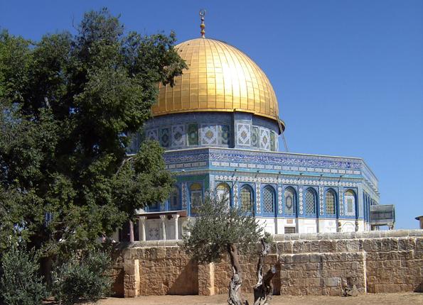 Eines der Wahrzeichen Jerusalems: Der berühmte Felsendom.