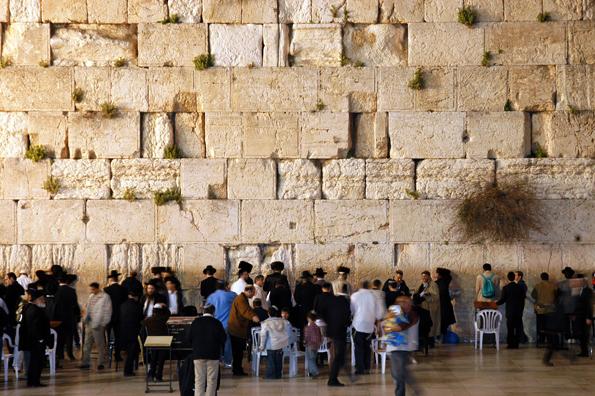 Pilgerstätte für mGläubige: Die Klagemauer.