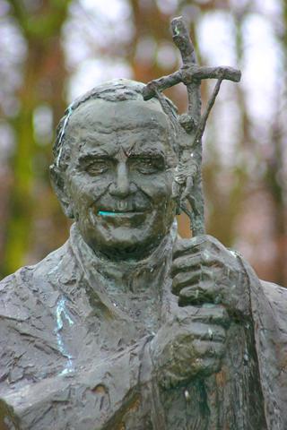 Wird och heute oin Polen hoch verrehrt: Papst Johannes Paul II. (Foto: Karsten-Thilo Raab)