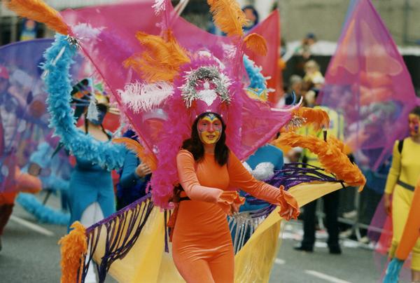 Ein Hauch von Karneval in Rio in Dublin.