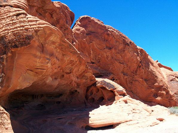 Das Vally of Fire besticht durch seine beeindruckenden Gesteinsformationen.