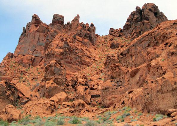 Eine der landschaftlich reizvollsten gebiete Nevadas: Das Vally of Fire. (Fotos: )