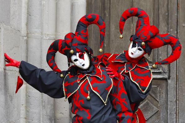 Vendig lässt grüßen beim Karneval im lotheringischen Remiremont.