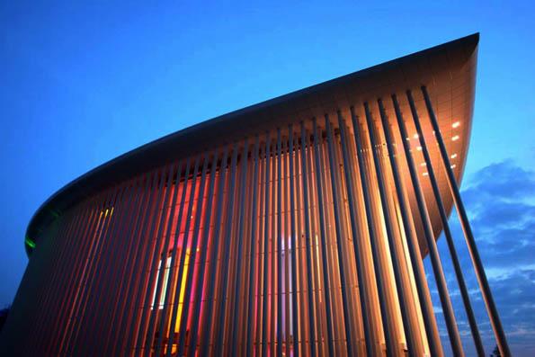 Das moderne Luxemburg zeigt sich auf dem Kirchberg-Plateau. Eines der bekanntesten Gebäude ist die Philharmonie. (Foto: LCTO)