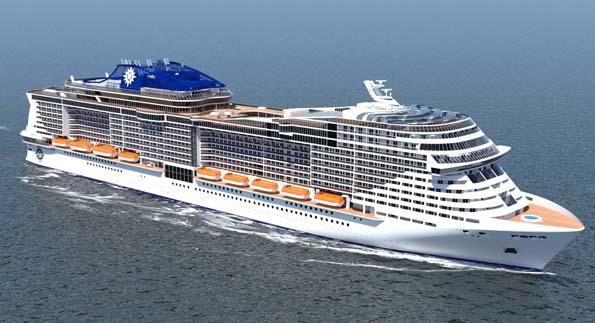 Ein anschauliche Modellskizze der neuen MSC-Schiffe.
