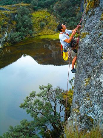 Das Kletterparadies Cojitambo bietet mehr als 160 verschiedene Kletterrouten. (Fotos Cuenca Tourismo)