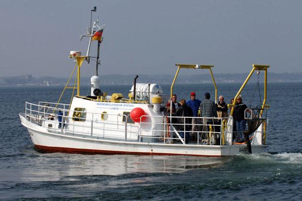 Von Laboe aus starten Forschungsfahrten für jedermann raus auf die Ostsee. (Foto: K. Deutschmann)