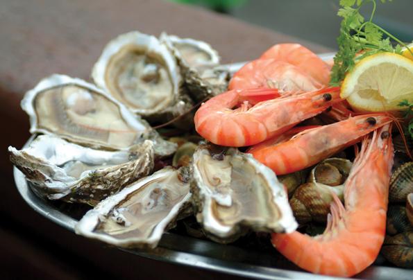 Austern und Meeresfrüchte kommen beim Jersey Food Festival fangfrisch auf den Tisch.
