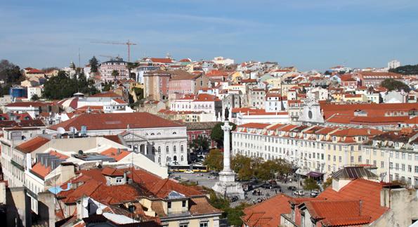 Pulsierendes Herzstück von Lissabon: Die Baixa. (Foto: Karsten-Thilo Raab)