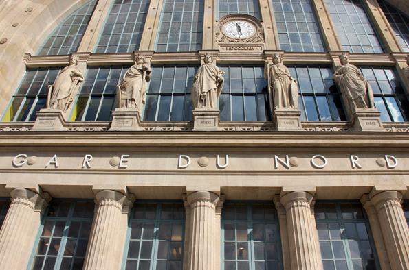 Zentral gelegen und imposant: Der Bahnhof Gare du Nord in Paris. (Foto: Karsten-Thilo Rab)
