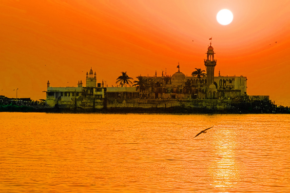 Eine der Landmarken in Mumbai: Haji Ali Dargah