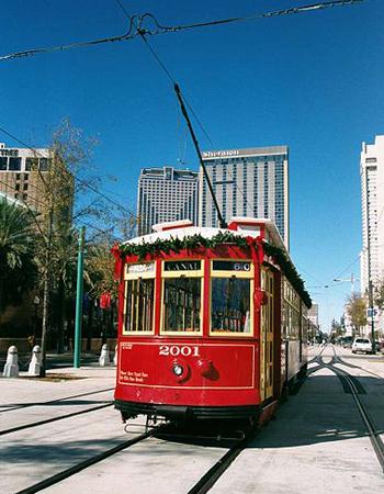 Straßenbahn-Nostalgie in New Orleans.