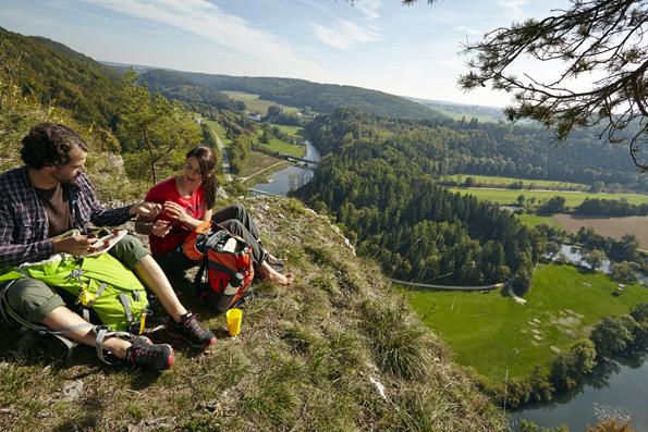 Die bis zu 13 Kilometer langen Touren versprechen herrliche Ausblicke auf die Flusslandschaft um Sigmaringen. (Foto: Stadt Sigmaringen)
