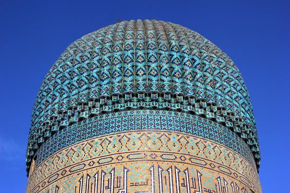 Die prächtige Kuppel des Amir Temur Mausoleums in Samarkand. (Foto: Karsten-Thilo Raab)