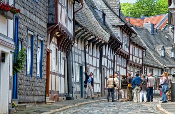 Die historische Altstadt von Goslar zählt mit ihren prächtigen Fachwerkhäusern zum Weltkulturerbe der UNESCO. (Foto Stefan Schiefer)
